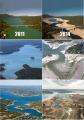 Antes y después de algunos grandes lagos y represas en Texas y California.